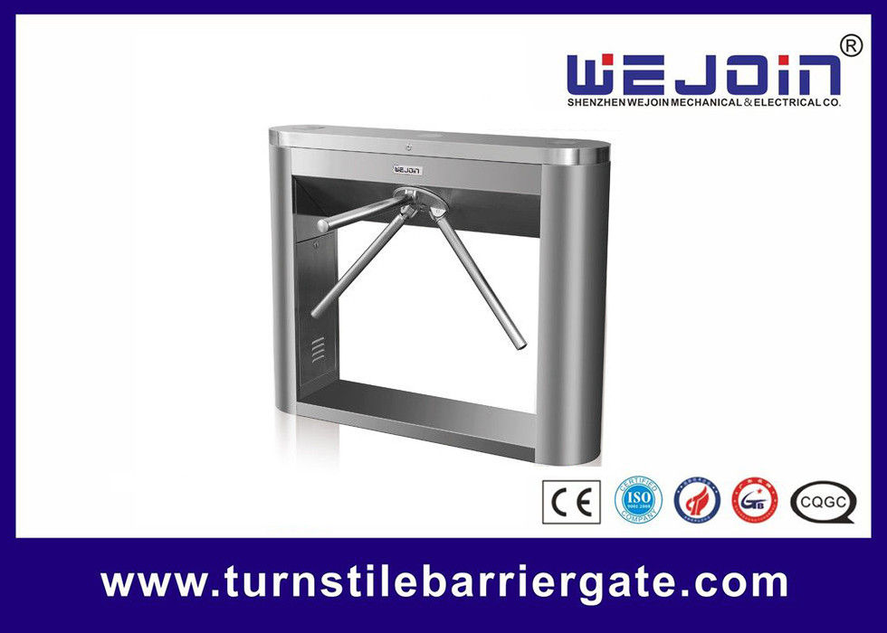 304 Stainless Steel Turnstile Barrier Gate Auto Security Tripod With Double Direction
