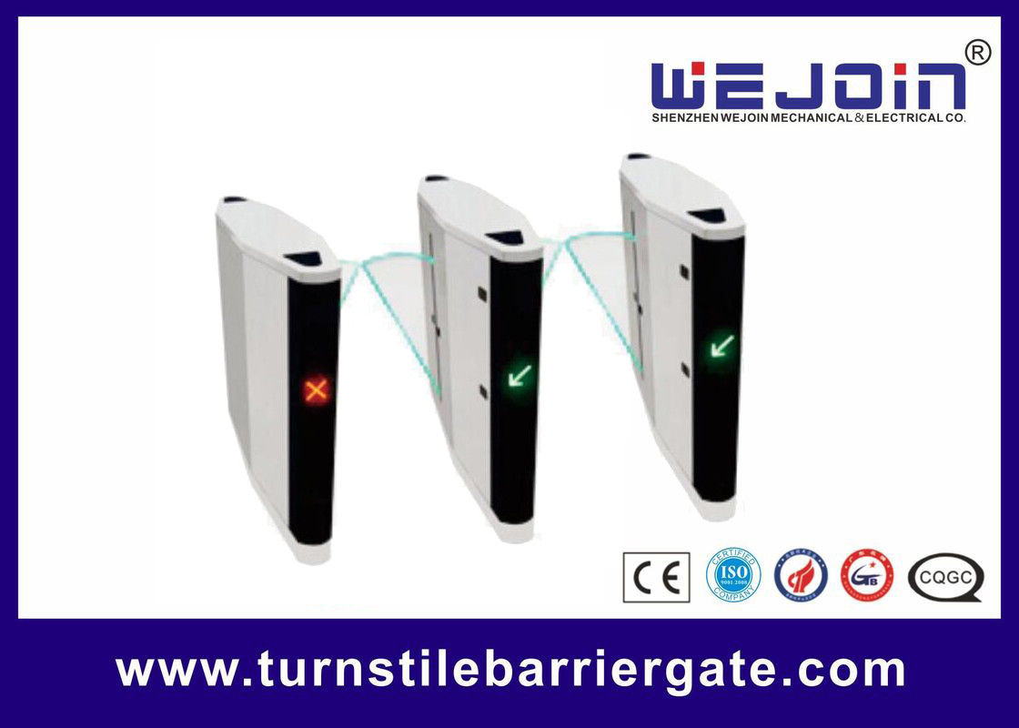 Automatic pedestrian waist high 304 stainless steel flap barrier turnstile gate with RFID card поставщик